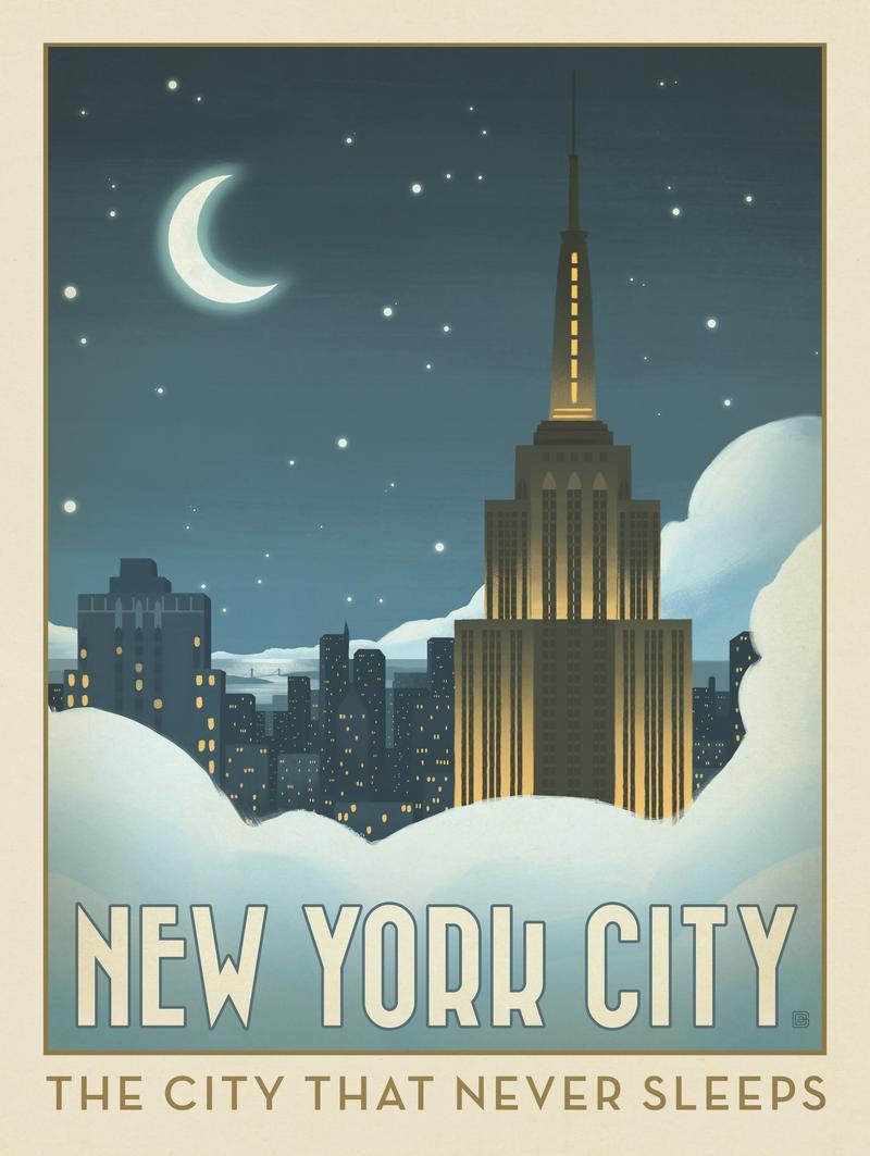 New York City: Moonlit Clouds
