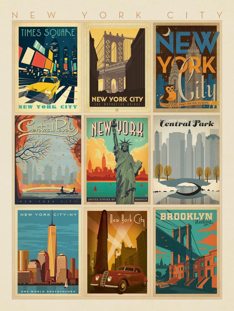 New York City: Multi-Image Print