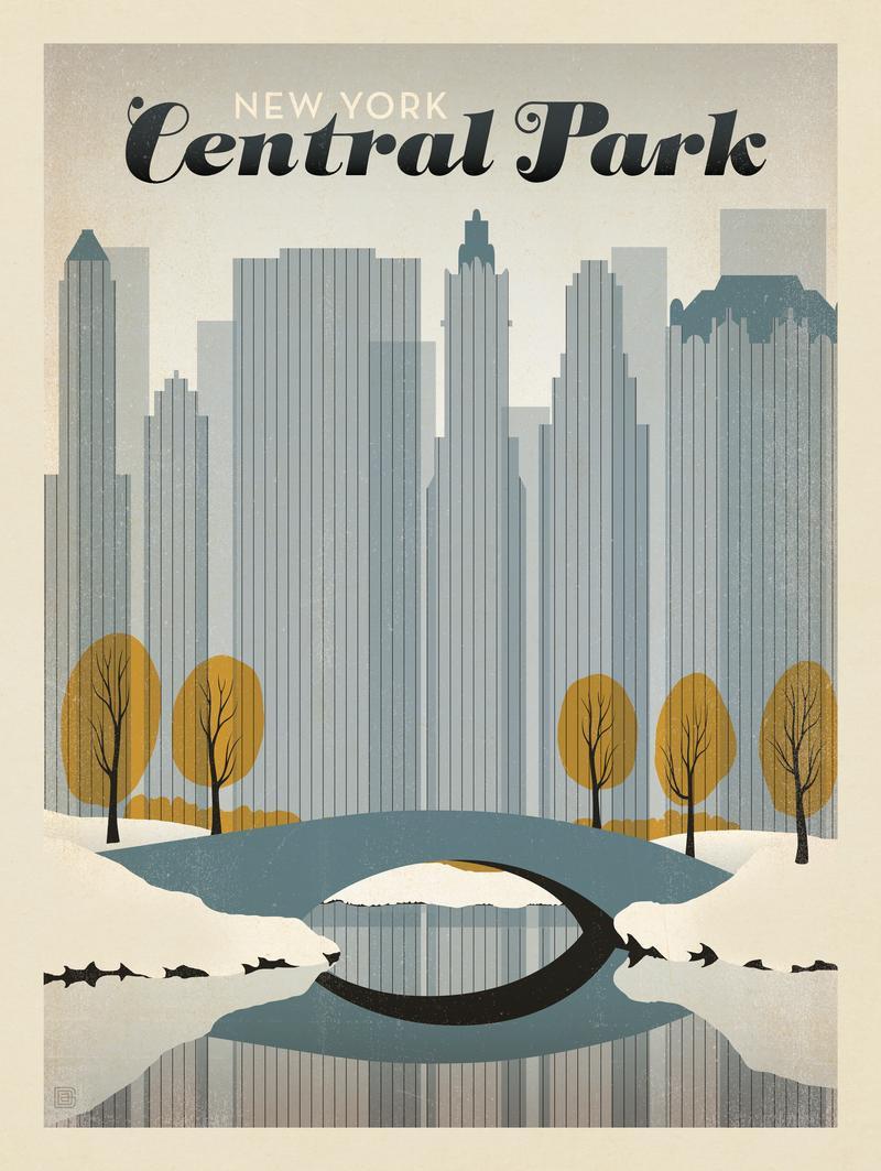 New York's Central Park: Early Snow