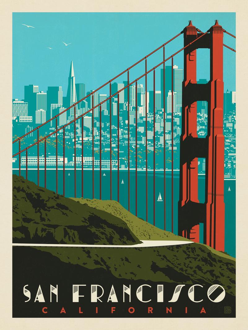 San Francisco: Golden Gate Bridge Skyline