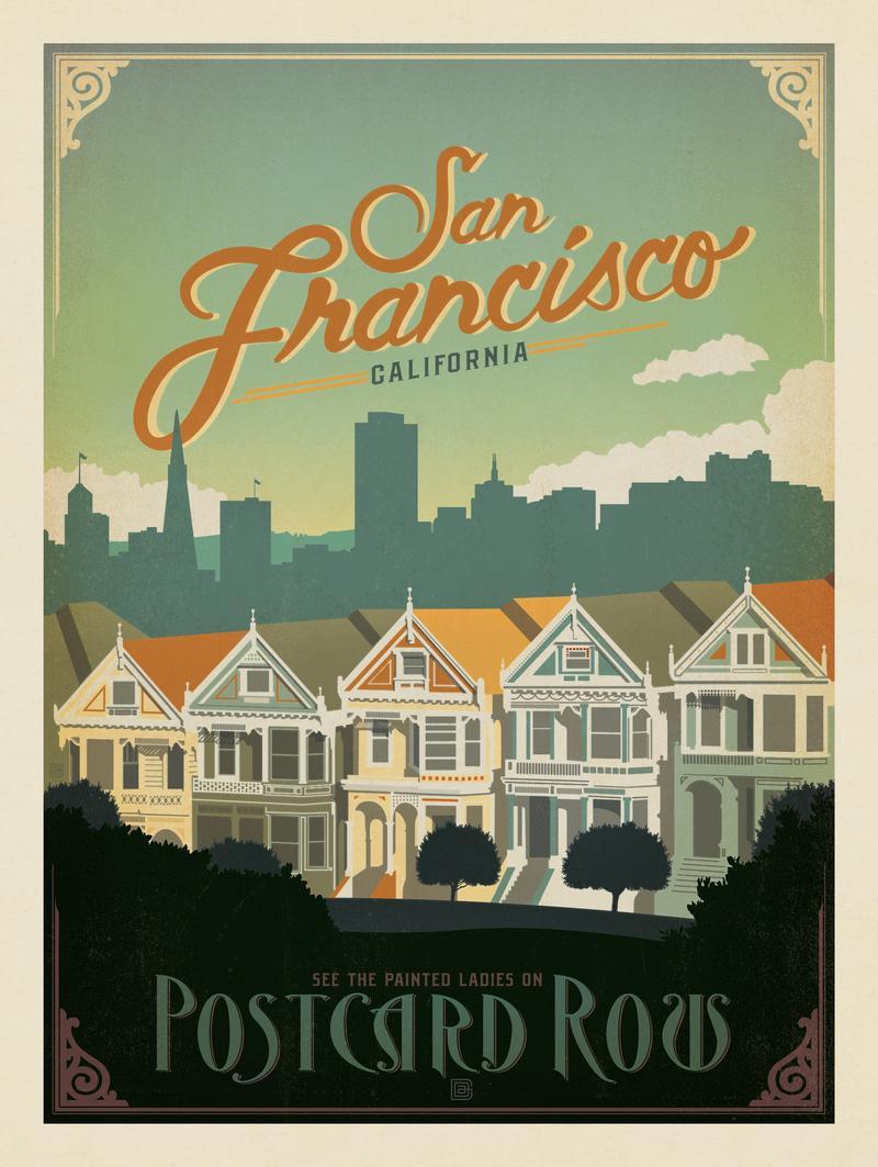 San Francisco: Postcard Row