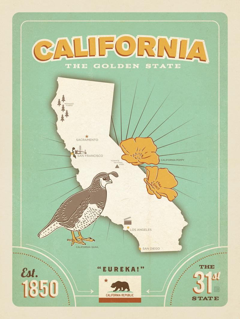 State Pride Print: California