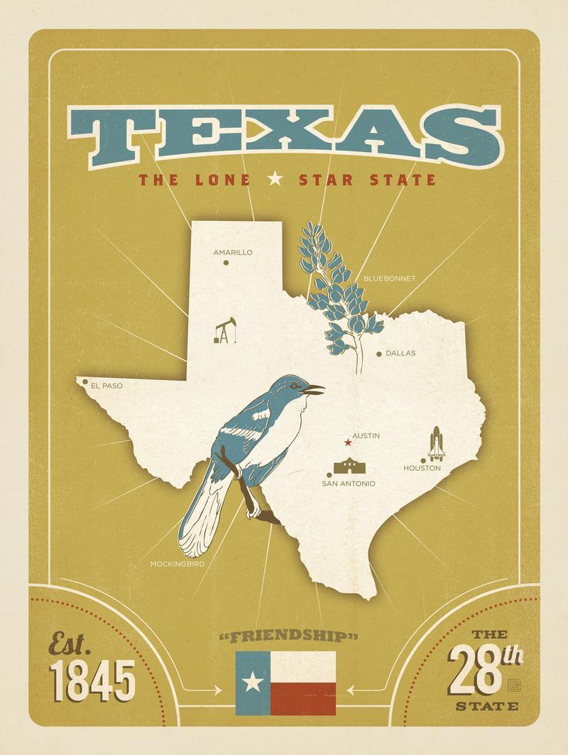 State Pride Print: Texas