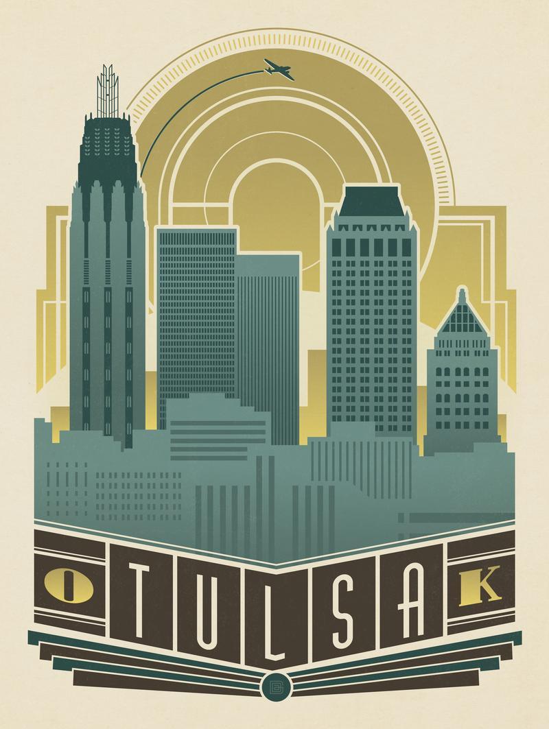 Tulsa, OK: Deco Skyline