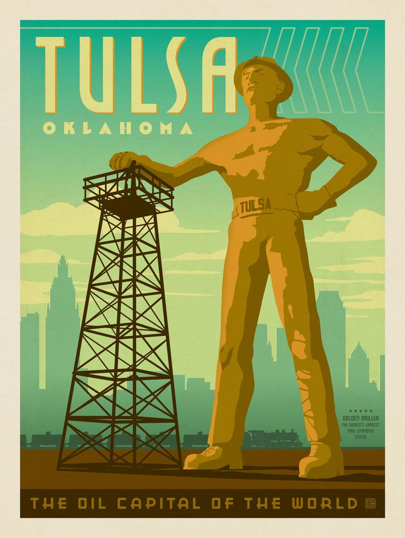 Tulsa, OK: Golden Driller