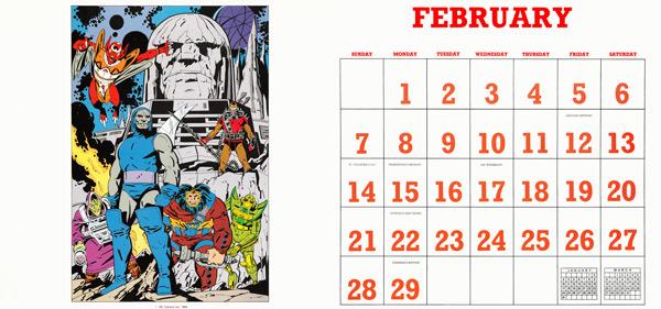 DC Comics Calendar 1988/2016 February