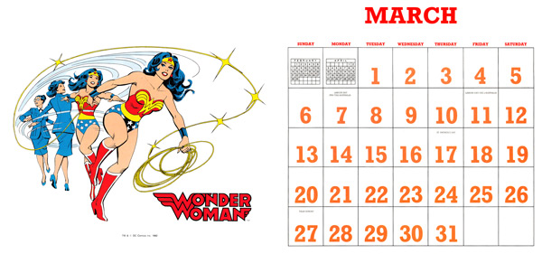 DC Comics Calendar 1988/2016 March