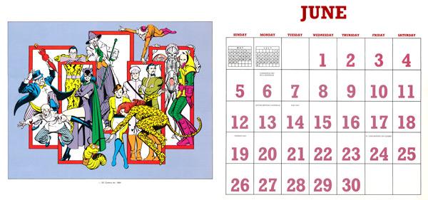 DC Comics Calendar 1988/2016 June