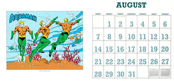 DC Comics Calendar 1988/2016 August