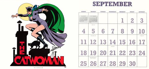DC Comics Calendar 1988/2016 September