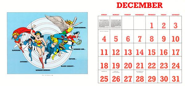 DC Comics Calendar 1988/2016 December