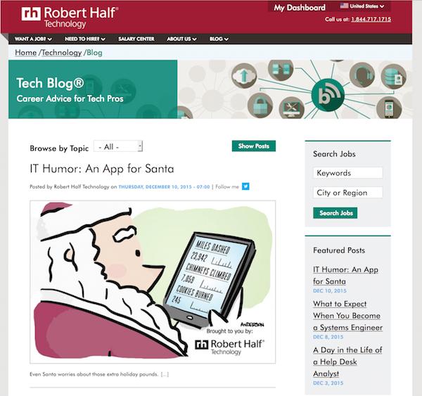 Cartoon Close-Up Robert Half Technology Blog