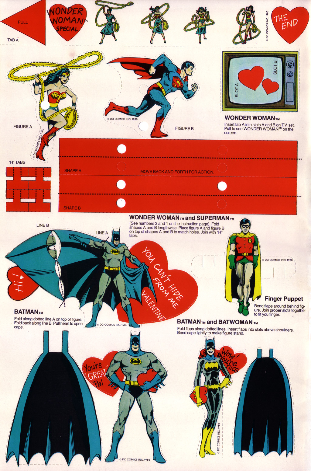 Superhero Valentines - 1980 SuperFriends 3