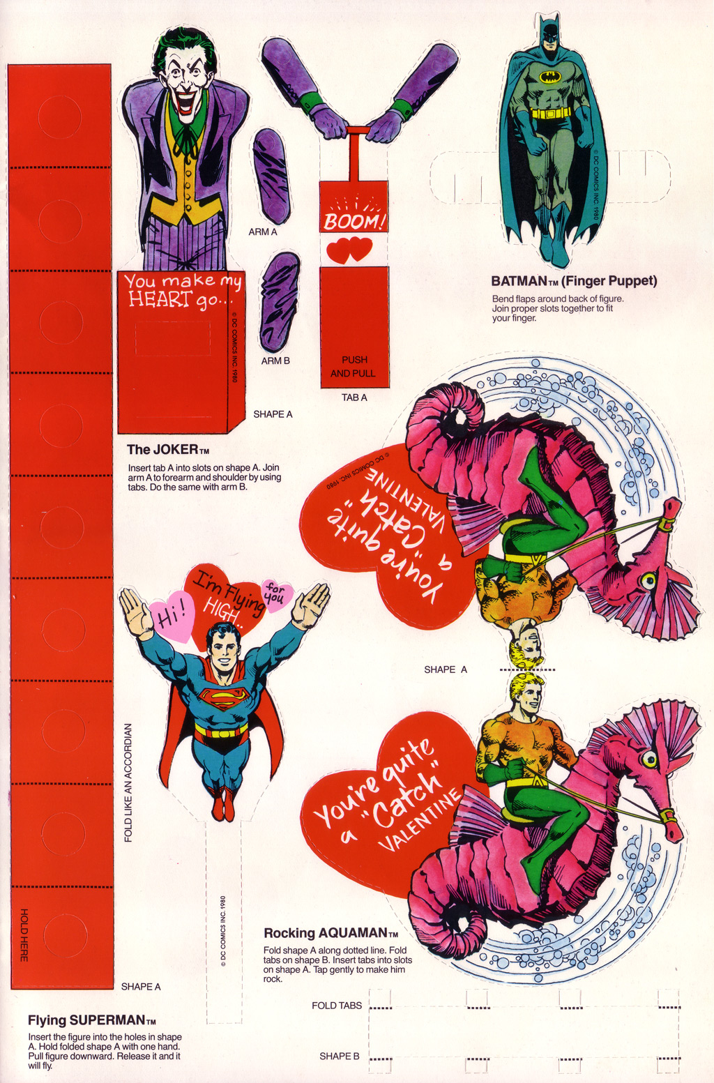 Superhero Valentines - 1980 SuperFriends 1