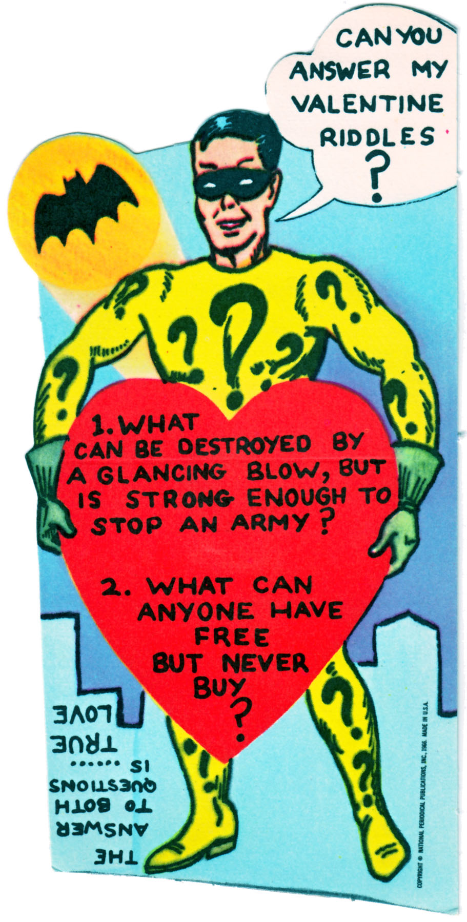 Superhero Valentines - 1966 Batman 2 - 1