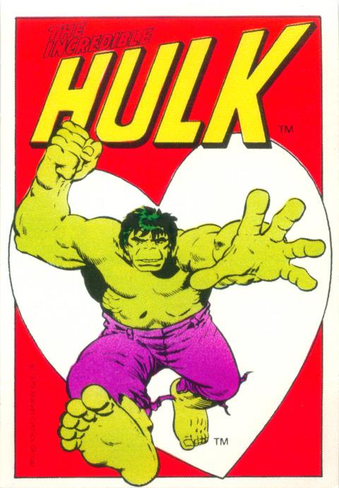 Superhero Valentines - 1979 Hulk 1
