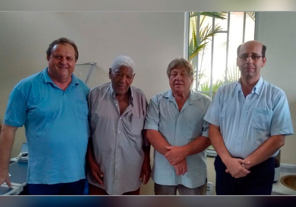 André Luiz Rosa (esq.), José Antônio Pinto, Luiz Nicola Bensi e José Carlos dos Santos (dir.)