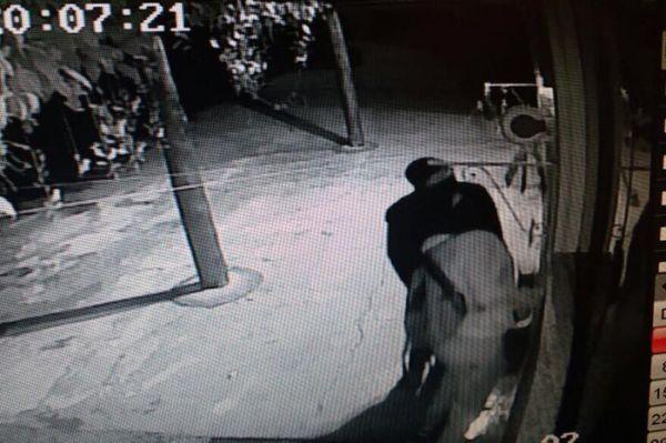 Câmeras de segurança registraram a ação (Fotos: Redes Sociais)