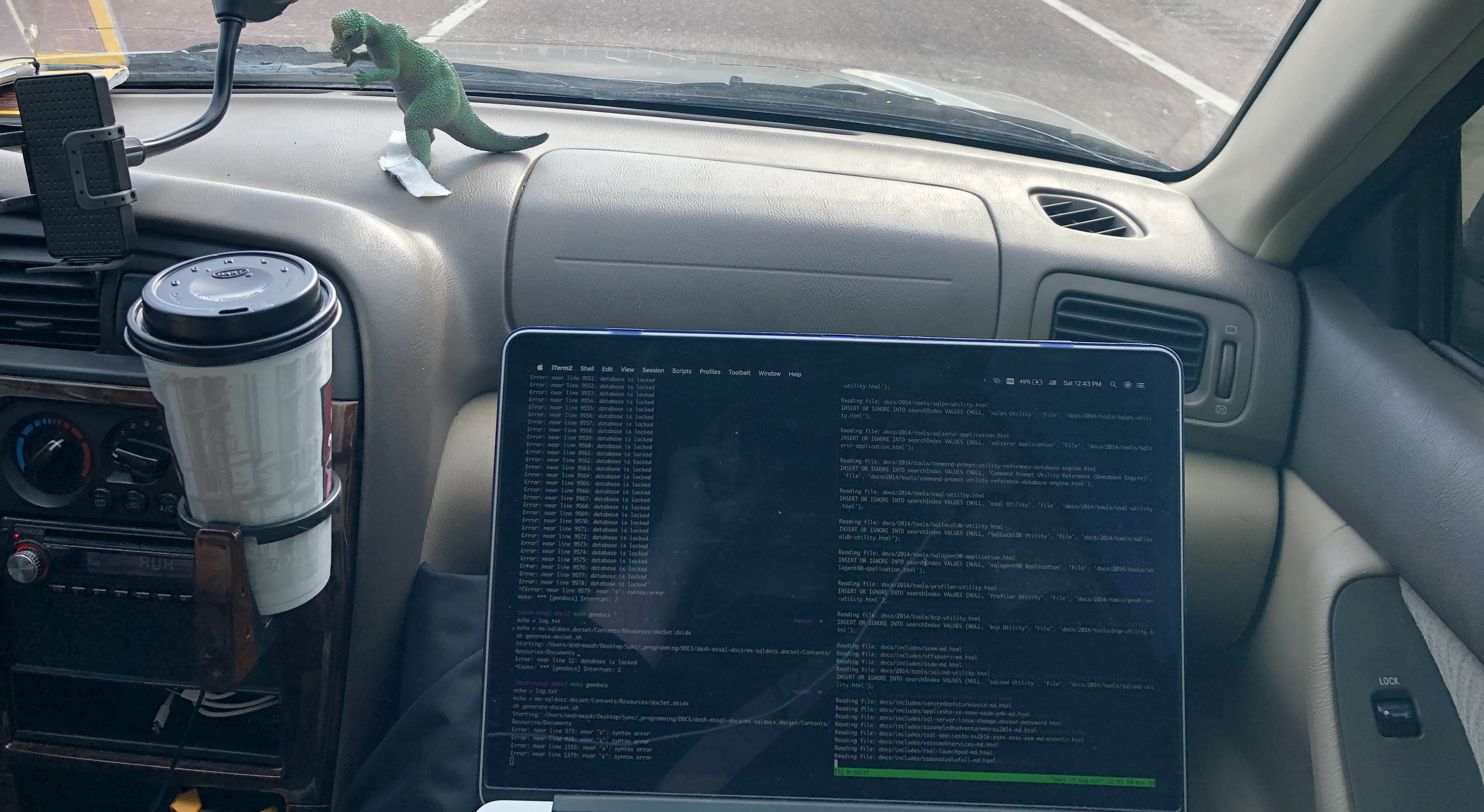 Working remotely whilst driving across Wyoming