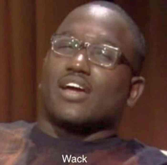 still of Hannibal Buress on The Eric Andre Show saying the word wack