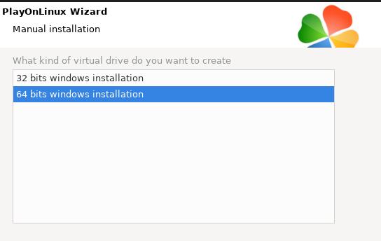 32bit or 64bit selection window