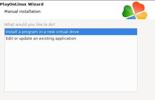 Install a program in a new virtual drive window