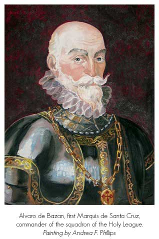 Alvaro de Bazon - Painting by Andrea F. Phillips