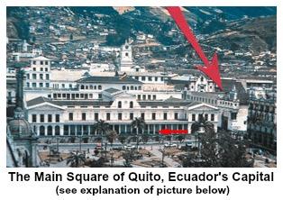 Main Square of Quito, Ecuador's Capital