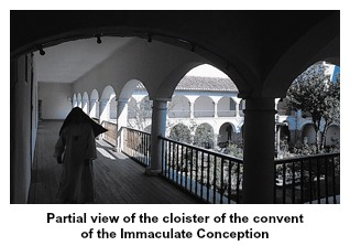 Cloister of the convent of the Immaculate Conception