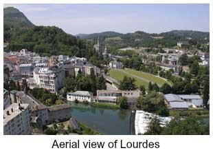 Ariel view of Lourdes