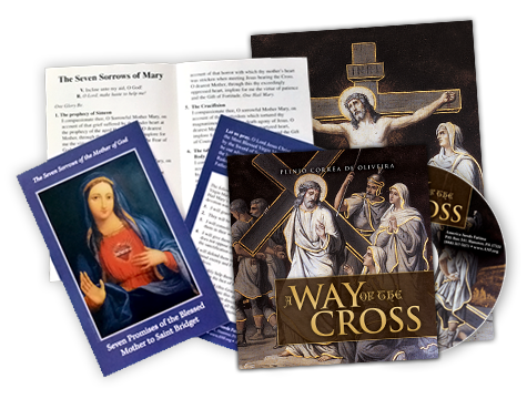A Way of the Cross CD & Booklet and Our Lady of Sorrows Prayer Card