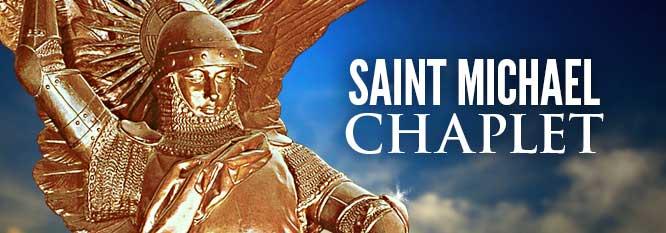 St Michael Chaplet Banner
