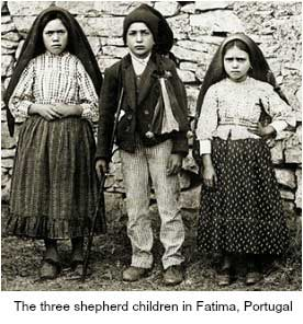 The 3 Shepherd Children in Fatima, Portugal