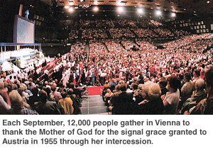 Gathering in Vienna to Thank the Mother of God granted to Austria