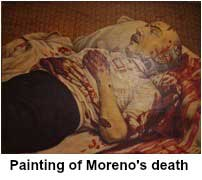 Painting of Moreno's death