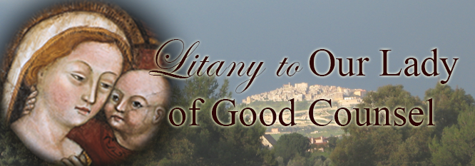 Litany to Our Lady of Good Counsel Banner