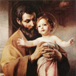 St Joseph and the infant Jesus