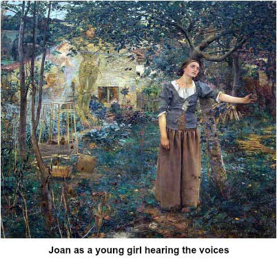 Young Joan hearing the voices
