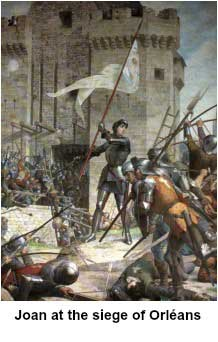 Joan at the seige of Orleans