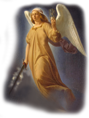 Angel with flaming sword
