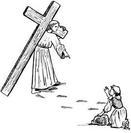 carrying a cross
