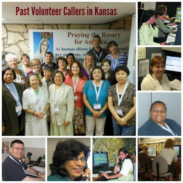 Collage of past Volunteer Callers in Kansas