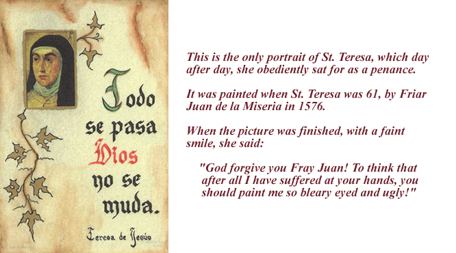 St Teresa Prayer Card