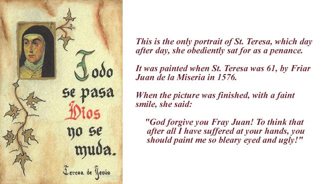 St Teresa Prayer Card