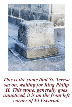 Stone that St Teresa sat on