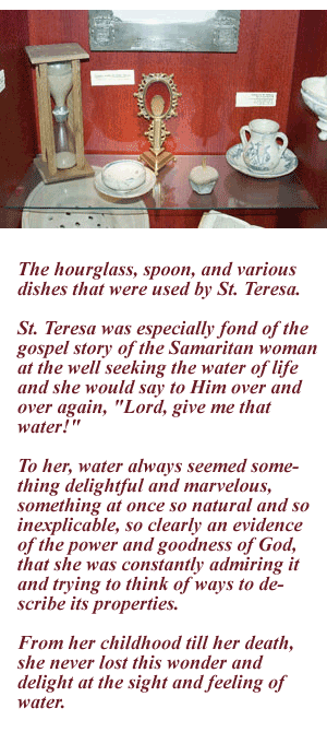 Items used by St Teresa
