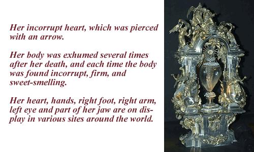 St Teresa incorrupt heart
