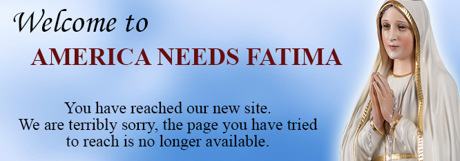 Welcome to America Needs Fatima.  We're sorry, the page you have tried to reach is no longer available.