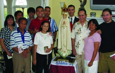 Photo from a Fatima home visit 1