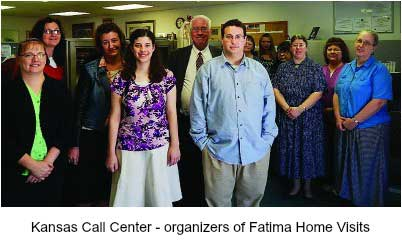 Kansas Call Center - organizers of Fatima Home Visits